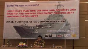 INFID-Direktor Don Marut hat die Marine im Nacken