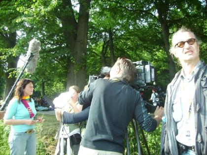 Filmaufnahmen mit Wim Wenders